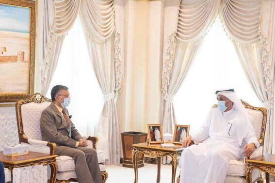 Qatar Indian Ambassador met Undersecretary of the Ministry of Interior